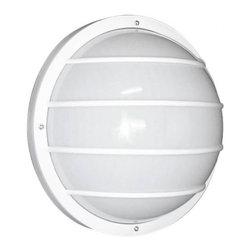 "DABMAR LIGHTING - Light Fixture Round Nautical 10 In. Dia X 5-1/4 In. 75 Watt Edison Base - Light fixture nautical style   round lexan   frosted white diffuser   10"" diameter x 5-1/4""   75 watt maximum Lamp   edison style base"