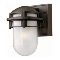 Hinkley Lighting - Hinkley Lighting 1956VZ Reef Mini Outdoor Wall Sconce in Victorian Bronze - Hinkley Lighting 1956VZ Reef Mini Outdoor Wall Sconce in Victorian Bronze