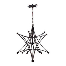 Crystorama Lighting Group - Crystorama Lighting Group 9236 Astro 4 Light Contemporary Chandelier - Four Light Down Lighting Single Tier Chandelier from the Astro CollectionEnglish Bronze chandelier from our new Astro Collection.Features: