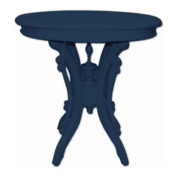 Trade Winds - New Trade Winds Tea Table Blue Painted - Product Details