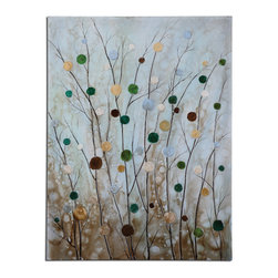 Uttermost - Candiland Floral Art - Frameless, Hand Painted Artwork On Canvas That Has Been Stretched And Attached To Wooden Stretching Bars. Due To The Handcrafted Nature Of This Artwork, Each Piece May Have Subtle Differences.