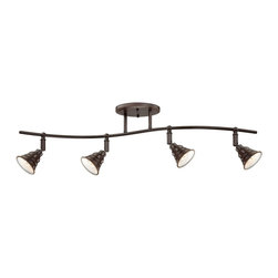Quoizel - Quoizel Eastvale Ceiling Track Light X-NP4041EVE - The East vale series pairs a vintage industrial look with modern sensibility. Attention to fine details and a rich Palladian bronze finish allow this distinctive fixture suit a variety of interior design styles.