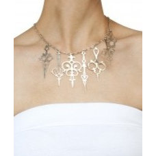 Silver plated Take The Time necklace available only at Pernia's Pop-Up Shop.