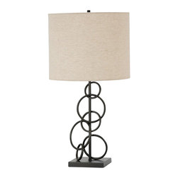 Coaster - Coaster Ring Design Base Table Lamp in Bronze - Coaster - Table Lamps - 901404 - Illuminate any room in your home with this beautiful table lamp that boasts of an understated shape in a unique finish giving a striking balance between casual and traditional styles. The perfect addition to contemporary casual or coastal styles of decor. Add these elegant lamps to your home for a quick style update.