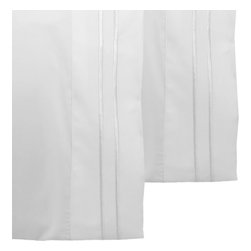 Store51 LLC - White Pillowcase Set Solid Color 2 Stripe Pillow Covers - FEATURES: