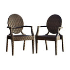 Great Deal Furniture - Townsgate PE Wicker Outdoor Arm Chair, Set of two - Move the party outdoors. Use these handsome wicker armchairs to create a comfortable entertaining space on your patio. The versatile, all-weather chairs come in a pair and ready to use. Don't miss another opportunity to enjoy an evening under the stars.