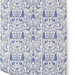 Nethercote Wallpaper, White & Blue
