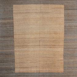 "ALRUG - Handmade Beige Oriental Kilim  8' 2"" x 10' 1"" (ft) - This Afghan Kilim design rug is hand-knotted with Wool on Wool."