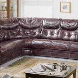 Overnice Tufted Full Italian Leather L-shape Furniture - Features:
