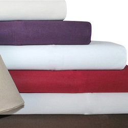 Bed Linens - Cotton 1500 Thread Count Solid Sheet Sets Queen White - 1500 Thread Count Solid Sheet Sets