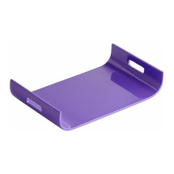 Purple Lacquer Curved Tray - *Monroe Tray