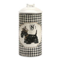 Treats for Fido Ceramic Canister - Treats for your sweets deserve a special container.This large canister can hold bully sticks, chews, and their favorite treats.