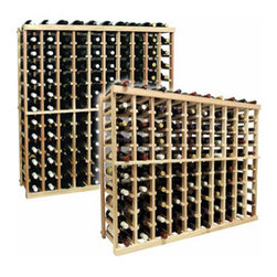 Wine Cellar Innovations - 10 Columns Individual; Vintner: Rustic Pine, Unstained, 4 Ft - Each wine bottle stored on this ten column individual bottle wine rack is cradled on customized rails that are carefully manufactured with beveled ends and rounded edges to ensure wine labels will not tear when the bottles are removed. Purchase two to stack on top of each other to maximize the height of your wine storage. Moldings and platforms sold separately. Assembly required.