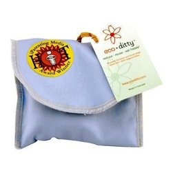 Eco Ditty Snack Bag - Powder Blue - eco ditty is the award winning snack bag! The perfect size for snacking. Compact and easily adjustable to handle all varieties of snacks.