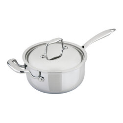 Engel-Riviere - All-Ply™ 3.0-Quart Sauce Pan - Don't just cook, create! This exceptional saucepan boasts a combo of copper, aluminum and stainless steel to give you even heat distribution and superior temperature control. You'll be whipping up stovetop magic with ease.