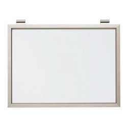 """Daily System Magnetic Whiteboard, Stainless Steel finish - Clever and versatile, our modular Daily System is the ultimate home-office assistant. Short Display Rod: 12"""" long Long Display Rod: 24"""" long Letter Bin: 12"""" wide x 19"""" high Office Organizer: 12"""" wide x 19"""" high Corkboard: 12"""" wide x 19"""" high Chalkboard: 24"""" wide x 19"""" high Magnetic Whiteboard Calendar: 24"""" wide x 19"""" high Linen Pinboard: 24"""" wide x 19"""" high Whiteboard: 24"""" wide x 19"""" high Made of MDF with an aluminum finish. Catalog / Internet only."""