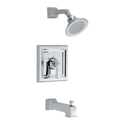 American Standard - Town Square Tub and Shower Faucet in Chrome - American Standard T555.502.002 Town Square Tub and Shower Faucet in Chrome.