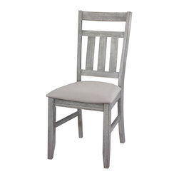 Powell - Powell Turino Dining Side Chair (Set of 2) - Turino dining side chair belongs to Powell cafe collection by Powell. The Turino dining side chair features traditional straight lines and a simplistic chair back. A luxurious tan fabric covers a plush seat. Finished in a grey oak stain, this piece is sure to complement your homes existing decor. Some assembly required.