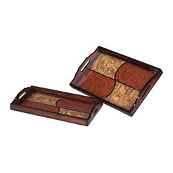 Sterling Furnishings - Sterling Furnishings Unique D�cor Items Tray in Unfinished Item - Shown in picture: Set Of 2 Quartered Trays