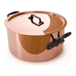 Mauviel - Mauviel M'hritage Copper & Stainless Steel Stew pot & Lid, 6.4 qt. - Bilaminated copper stainless steel (90% copper and 10% 18/10 stainless steel)