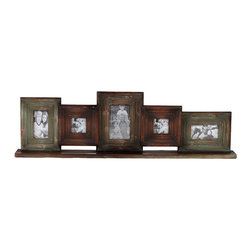 Photo Gallery Wall Frames - We're fans of gallery walls, especially when they come ready to go like this one. Five wooden picture frames, in various sizes, give you plenty of options. And with the cool, distressed finish, it'll look like you've been treasuring them for years.