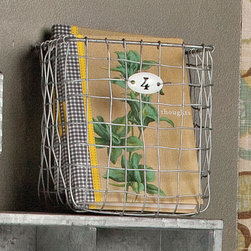 Wire Storage Basket With Number Tags (Set of 4) - Our trendy set of four numbered wire baskets can organize and sort any variety of items you may use it for. With an industrial finish and stylized number plates, the storage and display possibilities are limitless.