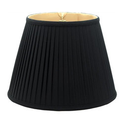 Royal Designs, Inc. - Empire Side Pleat Basic Lampshade - This Empire Side Pleat Basic Lampshade is a part of Royal Designs, Inc. Timeless Basic Shade Collection and is perfect for anyone who is looking for a traditional yet stunning lampshade. Royal Designs has been in the lampshade business since 1993 with their multiple shade lines that exemplify handcrafted quality and value.