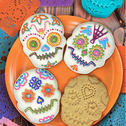 Sweet Spirits Cookie Cutters - Mexican tradition encourages a healthy respect for relatives that have passed on to their final reward, especially on the Day of the Dead when the deceased are honored with sweet treats like sugar skulls!