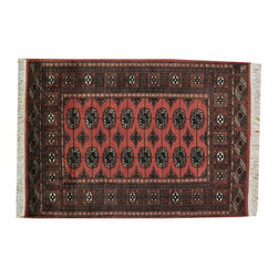 1800GetARug - Bokhara Rust Red Hand Knotted 100 Percent Wool Oriental Rug Sh18945 - Our Tribal & Geometric hand knotted rug collection, consists of classic rugs woven with geometric patterns based on traditional tribal motifs. You will find Kazak rugs and flat-woven Kilims with centuries-old classic Turkish, Persian, Caucasian and Armenian patterns. The collection also includes the antique, finely-woven Serapi Heriz, the Mamluk Afghan, and the traditional village Persian rug.