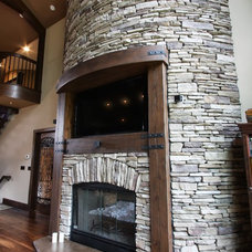 Rustic Fireplaces by Architectural Justice