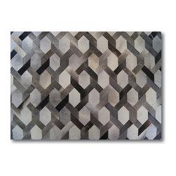 Kaymanta - Milan Design Hide Patchwork Rug | 6 x 8 Ft. Cowhide Patchwork Rug - 100% Natural Cowhide Rug - Patchwork Style
