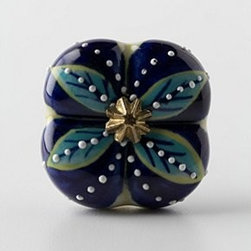 """Anthropologie - Singular Bloom Knob - Tighten with careNo additional hardware requiredCeramic2"""" diameter0.75"""" projection1.75"""" bolt can be trimmed to sizeImported"""