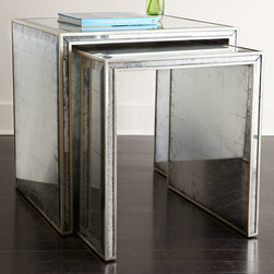 John-Richard Collection Eglomise Nesting Side Tables -