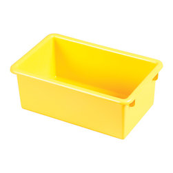 Ecr4kids - Ecr4Kids Heavy Duty Plastic Stack And Store Tub With No Lid Yellow, 15 Pack - Sold in cases of 15 (same color),Ages 2,Safety tested - conforms to ASTM F963-07,QSG - Quality Satisfaction Guaranteed. Note This item is a Tote Bin Only. Tote Bin with Matching Lid available on item  ELR-0102-XX. Accessories not included.