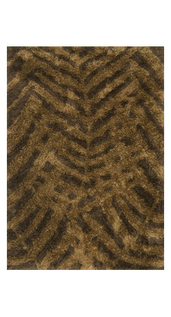 """Loloi Rugs - Loloi Rugs Garden Shag Collection - Brown / Bronze, 3'-6"""" x 5'-6"""" - Introducing one of our most inventive collections; the first-ever indoor/outdoor shag. Hand woven in India of 100% polyester, Garden Shag offers the same softness and textural appeal of our other shag collections, except this yarn is treated to withstand all of mother nature's elements including sunshine, rain, and dirt. And because the look is so versatile, Garden Shag looks equally at home as an easy-to-clean rug in the dining room or sunroom as it does outdoors."""