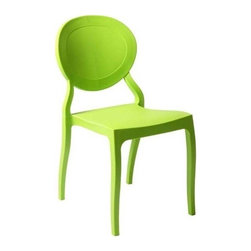 "Eurostyle - Eurostyle Vasska Stacking Side Chair in Green Polypropylene [Set of 2] - Stacking Side Chair in Green Polypropylene belongs to Vasska Collection by Eurostyle Polypropylene. Indoor/outdoor. Stacking. Fully assembled. Seat height: 17.5"". Side Chair (2)"