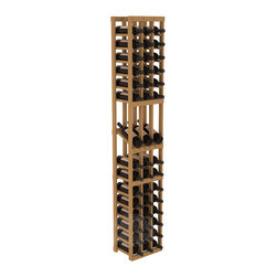 3 Column Display Row Cellar Kit in Pine with Oak Stain - Make your best vintage the focal point of your wine cellar. High-reveal display rows create a more intimate setting for avid collectors' wine cellars. Our wine cellar kits are constructed to industry-leading standards. You'll be satisfied. We guarantee it.
