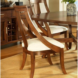 Somerton Dwelling - Somerton Dwelling Gatsby Slipper Dining Chairs - Set of 2 Multicolor - SOMER353 - Shop for Dining Chairs from Hayneedle.com! With a flowing contemporary design the Somerton Dwelling Gatsby Slipper Dining Chairs - Set of 2 make the perfect addition to your dining room. This fine set is made to last for a lifetime from hardwood solids and veneers. Their cream fabric upholstery complements the walnut and medium finish of these chairs just right.About Somerton DwellingFor over 20 years Somerton Dwelling has meant quality furniture and a quality company. Its warehouses and distribution centers located both in the United States and China provide environmentally friendly manufacturing locations as well as mindful employment spaces. Quality materials such as eco-friendly rubberwood solid wood and wood veneers are used to create Somerton Dwelling pieces ... and any Somerton Dwelling furnishing you choose will make a welcome stylish addition to your home.