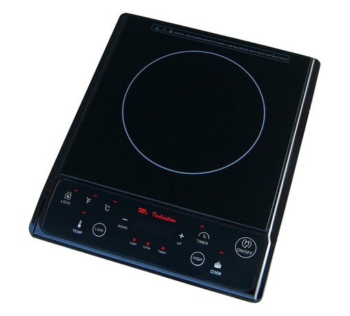 Sunpentown - 1300W Induction Cooktop, Black - Micro-Induction Cooktop provides the best in cooktop performance, safety and efficiency. Induction heats as electricity flows through a coil to produce a magnetic field under the ceramic plate. When a ferromagnetic cookware is placed on the ceramic surface, currents are induced in the cookware and instant heat is generated due to the resistance of the pan. Heat is generated to the pan only and no heat is lost. As there are no open flames, inductions are safer to use than conventional burners. Once cookware is removed, all molecular activity ceases and heating is stopped immediately.