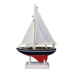 "Handcrafted Nautical Decor - American Sailor 9"" - Nautical Sail Boat - Not a model ship kit"