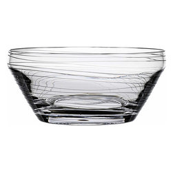 "Bomma - Dune Collection 12"" Diameter Crystal Centerpiece Bowl - The Dune 12.5 inch diameter crystal centerpiece bowl is an extraordinary focal point for your table. Designer Maria Hostinova has created robust pieces marked by cleanly defined shapes mixed with the delicate decor of flowing waves to underscore softness and playfulness with a touch of dynamic movement."