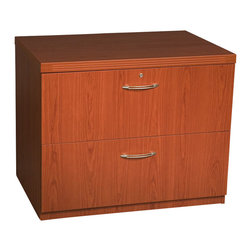 "Mayline - Mayline Aberdeen Freestanding Lateral File in Cherry-36"" - Mayline - Filing Cabinets - AFLF36LCR - The Aberdeen Series of laminate casegoods combine fashionable aesthetics and unparalleled quality all in a package that is surprisingly affordable. Aberdeen's transitional style allows it to fit into any environment whether it be modular multi-station work areas or executive offices. Aberdeen provides exceptional abrasion and stain resistance along with technology and cable friendly components.   Features:"