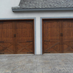 Garage Doors - Wood garage doors.