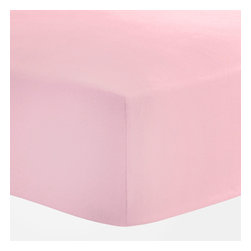 Anna's Linens - Pale Pink Fitted Crib Sheet Cotton Toddler Bedding - FEATURES:
