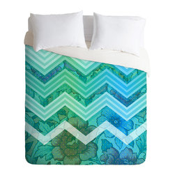DENY Designs - Gabi Azul Duvet Cover - Turn your basic, boring down comforter into the super stylish focal point of your bedroom. Our Luxe Duvet is made from a heavy-weight luxurious woven polyester with a 50% cotton/50% polyester cream bottom. It also includes a hidden zipper with interior corner ties to secure your comforter. it's comfy, fade-resistant, and custom printed for each and every customer.