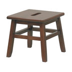 Winsome Trading - Winsome Trading Inc Conductor Step Stool, Walnut (6 Pack) (94213) - Winsome Trading Inc 94213 Conductor Step Stool, Walnut (6 Pack)