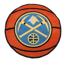 Fanmats - NBA Denver Nuggets Rug Basketball Shaped Mat - FEATURES: