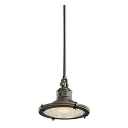 Kichler - Kichler 42436OZ Sayre Single-Bulb Indoor Pendant with Cone-Shaped Metal Shade - Product Features: