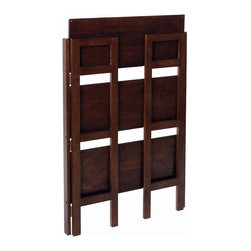 Winsome Wood - Winsome Wood 3-Tier Folding and Stackable Shelf, Wide X-69849 - This folding shelf comes in three different finishes to match any space.  Double stack this shelf to create a wall unit.  Use it in the bathroom for your towels, in the kids room for their stuff toys or in an office for books or files.  Made of Solid beechwood.