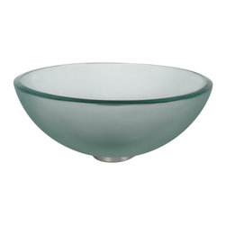 Kraus - Kraus Frosted 14 inch Glass Vessel Sink - *Fashionable bathroom sink is the perfect harmony of elegance and style